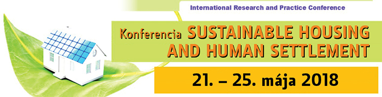 Konferencia SUSTAINABLE HOUSING AND HUMAN SETTLEMENT