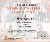 Online diskusia s vedením fakulty
