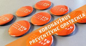 Mimoriadne opatrenia SvF v súvislosti s prevenciou šírenia koronavírusu