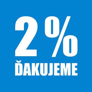 2 % zo svojich daní